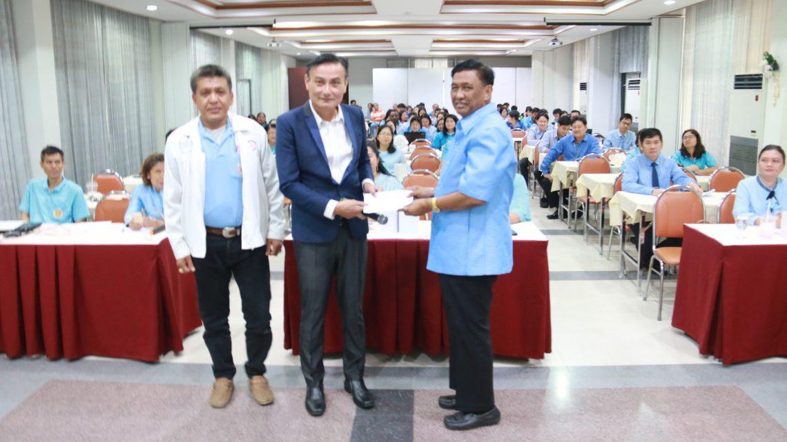 บรรยายข้าราชการครูและบุคลากรวิทยาลัยอาชีวศึกษากาญจนบุรี